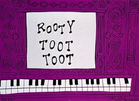 Screenshots from the 1952 UPA cartoon Rooty Toot Toot