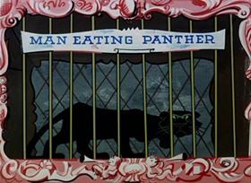 Screenshots from the 1952 UPA cartoon Dog Snatcher