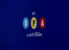 Screenshots from the 1952 UPA cartoon Pink and Blue Blues