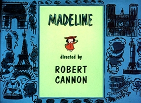 Screenshots from the 1952 UPA cartoon Madeline