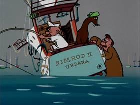 Screenshots from the 1952 UPA cartoon Captians Outrageous