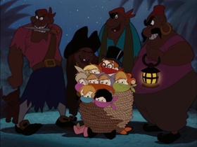 Screenshots from the 1953 Disney cartoon Peter Pan
