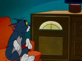 Screenshots from the 1953 MGM cartoon The Missing Mouse