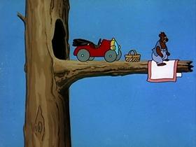 Screenshots from the 1953 MGM cartoon Barney