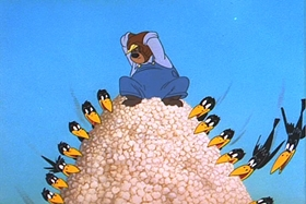 Screenshots from the 1953 MGM cartoon Cobs and Robbers