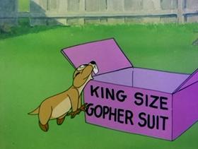 Screenshots from the 1953 MGM cartoon Heir Bear