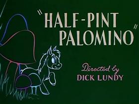 Screenshots from the 1953 MGM cartoon Half-Pint Palomino