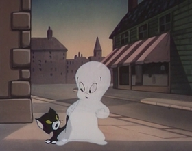 Screenshots from the 1953 Paramount / Famous Studios cartoon Frightday the 13th