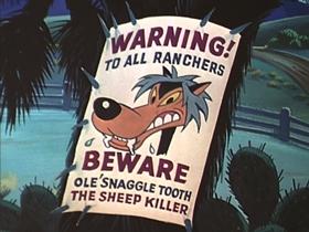 Screenshots from the 1953 Walter Lantz cartoon The Dog That Cried Wolf