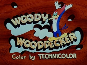 Screenshots from the 1953 Walter Lantz cartoon Buccaneer Woodpecker