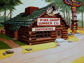 Screenshots from the 1953 Walter Lantz cartoon Operation Sawdust