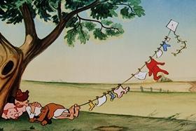 Screenshots from the 1953 Walter Lantz cartoon Maw and Paw