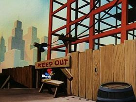 Screenshots from the 1953 Walter Lantz cartoon Hypnotic Hick