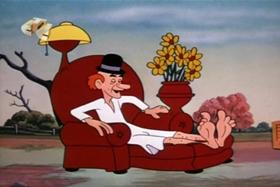 Screenshots from the 1953 Walter Lantz cartoon Plywood Panic