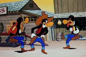 Screenshots from the 1953 Walter Lantz cartoon Hot Noon