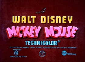 Screenshots from the 1953 Disney cartoon The Simple Things