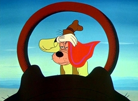 Screenshots from the 1953 Disney cartoon For Whom the Bulls Toil
