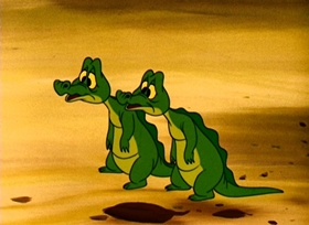 Screenshots from the 1953 Disney cartoon Don