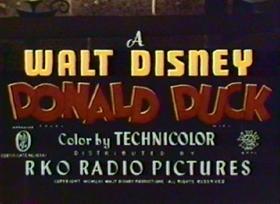 Screenshots from the 1953 Disney cartoon Rugged Bear