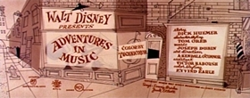 Screenshots from the 1953 Disney cartoon Toot, Whistle, Plunk and Boom