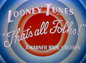 Screenshots from the 1953 Warner Brothers cartoon Don