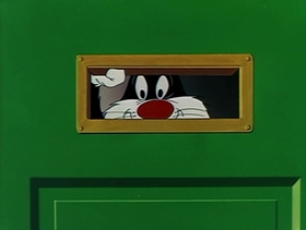 Screenshots from the 1953 Warner Brothers cartoon A Mouse Divided