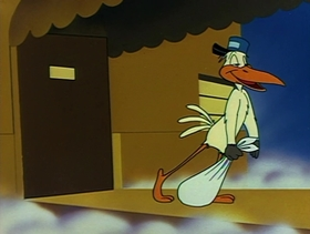 Screenshots from the 1953 Warner Bros. cartoon A Mouse Divided