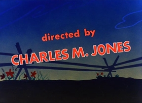 Screenshots from the 1953 Warner Bros. cartoon Forward March Hare