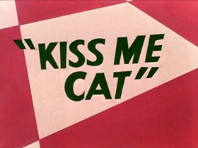 Screenshots from the 1953 Warner Brothers cartoon Kiss Me Cat
