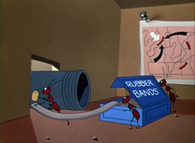 Screenshots from the 1953 Warner Brothers cartoon Ant Pasted