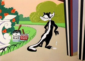 Screenshots from the 1953 Warner Brothers cartoon Wild Over You