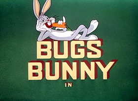 Screenshots from the 1953 Warner Brothers cartoon Bully for Bugs