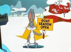 Screenshots from the 1953 Warner Brothers cartoon Duck! Rabbit! Duck!