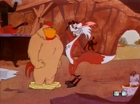 Screenshots from the 1953 Warner Brothers cartoon Easy Peckin