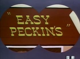 Screenshots from the 1953 Warner Brothers cartoon Easy Peckin