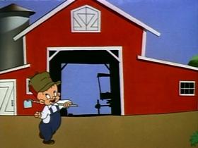 Screenshots from the 1953 Warner Bros. cartoon Robot Rabbit