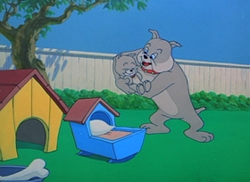Screenshots from the 1954 MGM cartoon Hic-Cup Pup