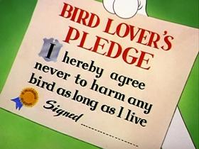 Screenshots from the 1954 MGM cartoon Bird-Brain Bird Dog