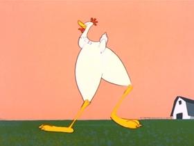 Screenshots from the 1954 MGM cartoon The Farm of Tomorrow