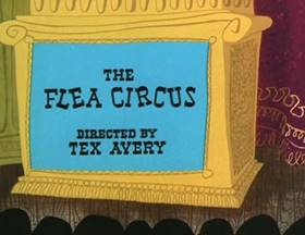 Screenshots from the 1954 MGM cartoon The Flea Circus