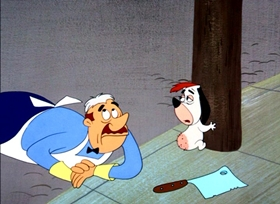 Screenshots from the 1954 MGM cartoon Dixieland Droopy