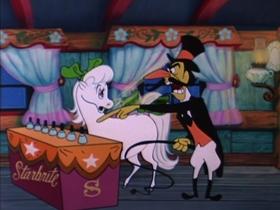 Screenshots from the 1954 Walter Lantz cartoon Hay Rube