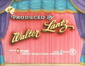 Screenshots from the 1954 Walter Lantz cartoon Broadway Bow Wows