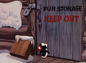 Screenshots from the 1954 Walter Lantz cartoon I