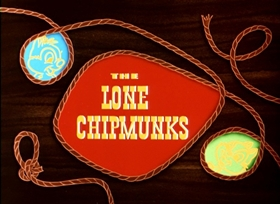 Screenshots from the 1954 Disney cartoon The Lone Chipmunks