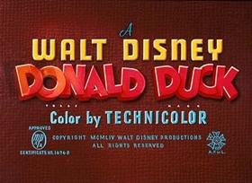 Screenshots from the 1954 Disney cartoon Grin and Bear It