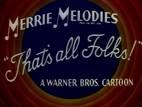 Screenshots from the 1954 Warner Brothers cartoon Captain Hareblower