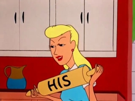 Screenshots from the 1954 Warner Brothers cartoon Wild Wife