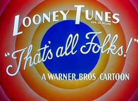 Screenshots from the 1954 Warner Brothers cartoon The Cats Bah