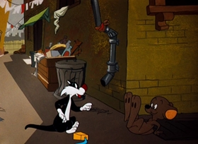 Screenshots from the 1954 Warner Brothers cartoon Bell Hoppy